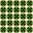 Green tiled background — Stock Photo
