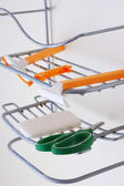 Shower Caddy with Accessories — Stock Photo