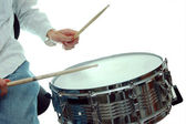 Snare drumming — Stock Photo