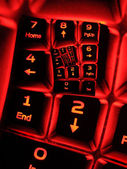 Numpad ona illuminated keyboard — Stock Photo