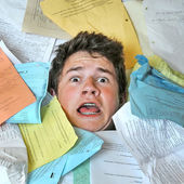 Too Much Homework Assignments — Stok fotoğraf