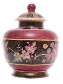 Fancy floral pot — Stock Photo