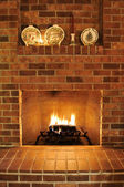 Brick Fireplace — Photo