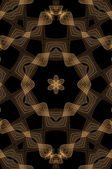 Chocolate Seamless Fractal Pattern — Stock Photo