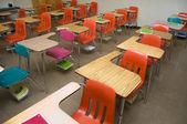 Empty School Desks — Stock Photo