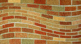 Wavy Brick Wall — Stock Photo
