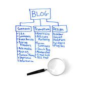 Blog Plan — Foto Stock