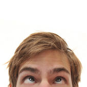 Man looking up into space — Stock Photo