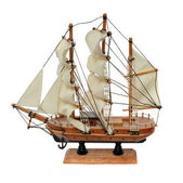 Miniature ship model — Stock Photo