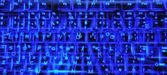 Holographische beleuchtete tastatur — Stockfoto