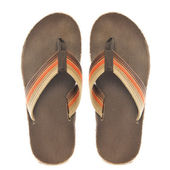Retro Orange and Brown Sandals — Stock Photo