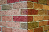 Brick Wall Corner — Stock Photo