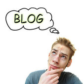 Thinking About A Blog — Foto de Stock
