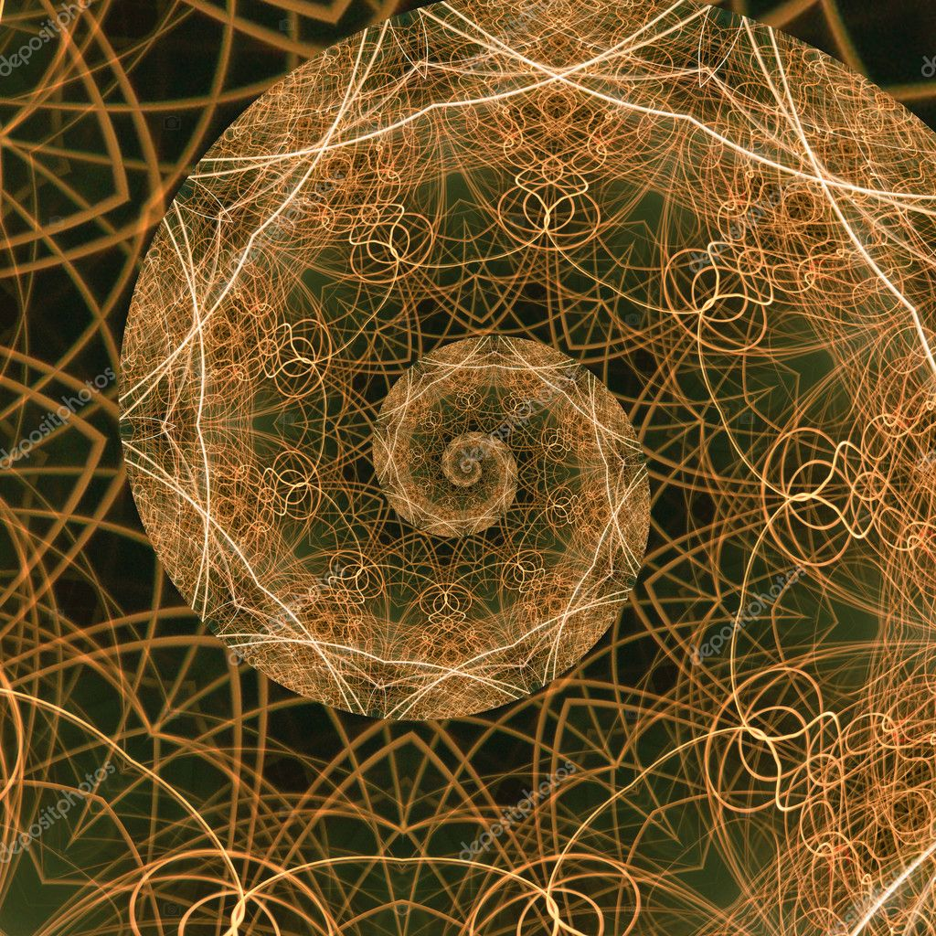 The Golden Ratio, a mathematical phenomenon. Abstract background fractal representation of the golden mean. — Stock Photo #4626409