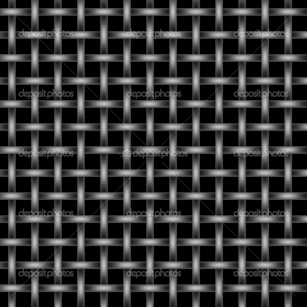 Silver and black metal wire mesh grid on black background  Stock Photo #4627951