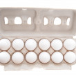 Stock Photo: Dozen of eggs