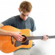 Teenager Playing Guitar — Stock Photo #4630616