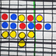 Dots and boxes - Stock Photo