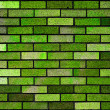 Green bricks wall background texture — Stock Photo #4631096