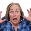 Terrified woman — Stock Photo