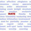 Stock Photo: Hate concept