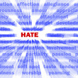 Stock Photo: Hate & words