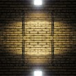 Brick wall with spotlight — 图库照片