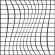 Bent Grid — Stock Photo