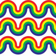 Stock Photo: Rainbow Curve Waves