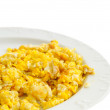 Stock Photo: Scrambled Eggs On White