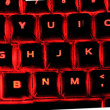Stock Photo: Illuminated keyboard
