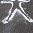 Stock Photo: Dead Body Chalk Outline