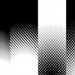 Abstract Halftone Patterns — Stock Photo