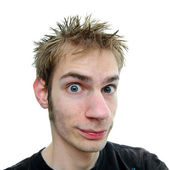 Young adult with spiky hair — Stock Photo