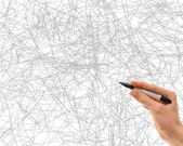 Pen with scribbles — Stock Photo