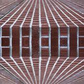 Resumo de borda de parede de tijolo — Fotografia Stock