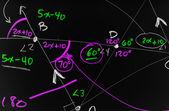 Complex Mathematics background — Stock Photo