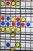 Dots and boxes — Stock Photo