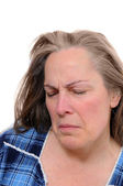 Sad middle aged woman — Stock Photo