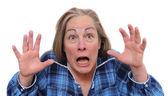 Terrified woman — Stock Photo