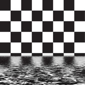 Checker pattern with water — Stock Photo