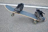 Invisible Skateboarder — Stock Photo