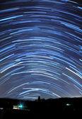 青い星の軌跡 — ストック写真