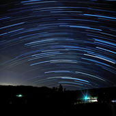 Long Star Trails — Stock Photo