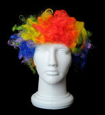 Clown Wig on a Mannequin Head — Stock Photo