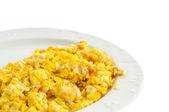 Scrambled Eggs On White — Stock Photo