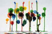 Abstract Colorful Paint Drips Art — Stock Photo