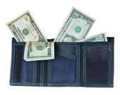 Wallet with Lots of Money — Stock Photo