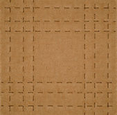 Cardboard with Perforated Lines — Стоковое фото
