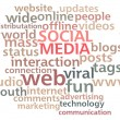 Social Media Word Cloud — Stock Photo